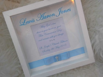Boys 1st Communion Gift Frame